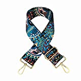SWTOOL 2' Wide 28'-50' Adjustable Length Handbag Purse Strap Guitar Style Multicolor Canvas Replacement Strap Crossbody Strap, with 2Pcs Gold Metal Buckles (Style1)