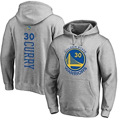 RR Männer und Wome Basketball Hoodie Stephen.Curry # 30 Golden State Warriors Langarm-Pullover mit Kordelzug S-XXXL (Color : Gray, Size : M)