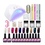 Kit Vernis Semi Permanent Saint-Acior Lampe LED 36W Manucure Soak Off Gel Polish Gel...