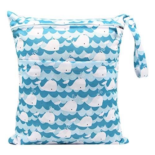 karrychen 30x36cm Fashion Print Baby Diaper Storage Bag Reusable Waterproof Nappy Pouch- 5#