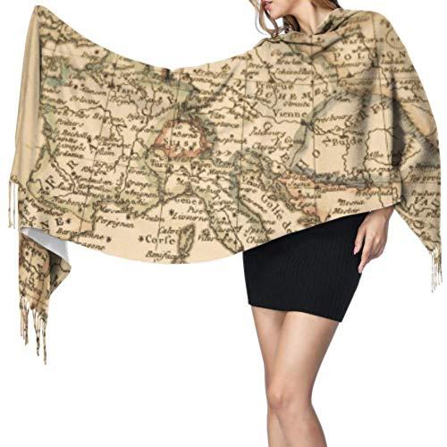 Bufanda con diseño de mapa antiguo de Europa