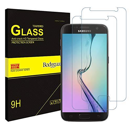 Bodyguard [2 Stück] Panzerglas Schutzfolie für Samsung Galaxy S7, 9H Härte, Anti-Kratzen Panzerglasfolie, Sensitive Touch Folie, HD Displayschutzfolie für Samsung S7