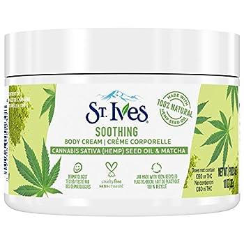 St Ives Hand & Body Cream Moisturizer for Dry Skin Cannabis Sativa Hemp  Seed Oil & Matcha Made w/ 100% Natural Moisturizers 10 oz