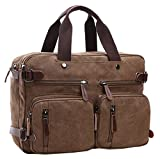 Laptop Tote Bags, Berchirly 100% Retro PU Leather Shoulder Computer Business Briefcase Case for men women
