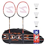 Fostoy Badminton Racquet Badminton Racket Set-Professional Carbon Fiber Badminton Racket with 3 shuttlecocks