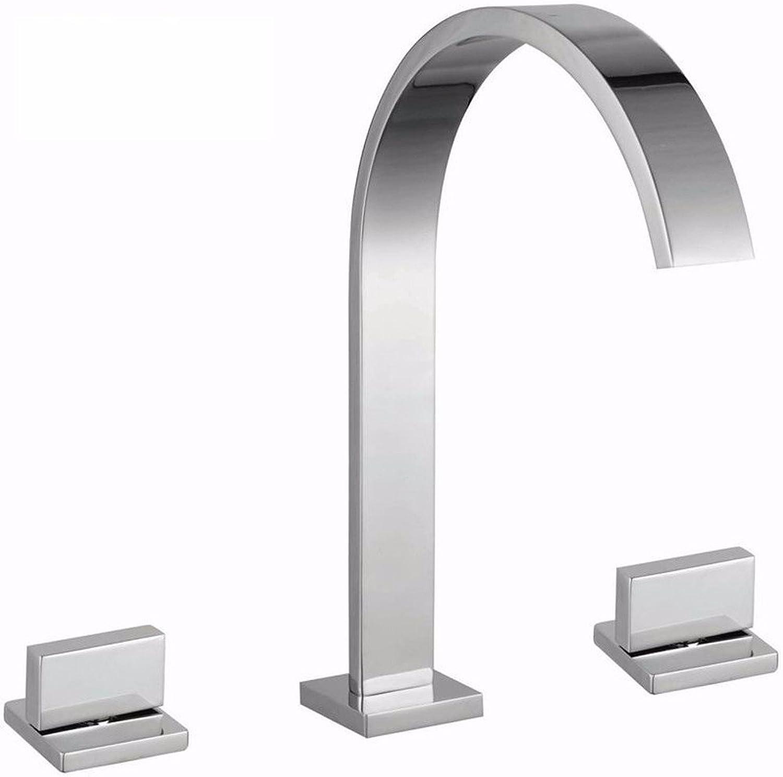 LHbox Basin Mixer Tap Bathroom Sink Faucet 3-piece faucet full copper Bathroom Cabinet faucet basin Faucet