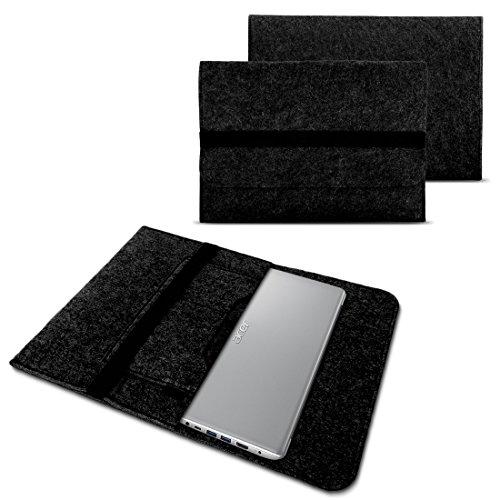 NAUC Notebook Tasche kompatibel mit Acer Swift 1 2 3 5 7 14 Zoll Hülle Filz Sleeve Hülle Schutzhülle Cover, Farben:Dunkel Grau