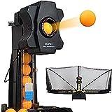 MaquiGra Máquina Automática de Pelota de Ping Pong Set de Ping Pong Robot de Tenis de Mesa Entrenador Inteligente de Ping-Pong Multi-rotación Multi-caída (S6-Pro)
