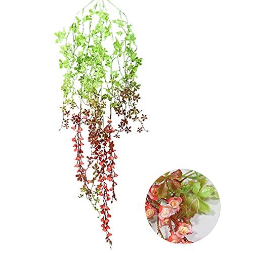 BFYDOAA 2Pcs Artificial Hanging Vines Plants,Artificial Ivy Garland Artificial Potted Plant for Wedding Backdrop Wall Decor