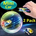 2 Pack High Speed Mini RC Car Toys for Kids Boys Girls Light Up Hobby Toys 360° Rotating Hand Control Spinning Racing Car Vehicles Crawlers Chariot Holiday Birthday Gifts (02 Mini Car 2 Pack)