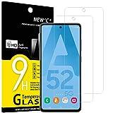 NEW'C 2 Stück, Schutzfolie Panzerglas für Samsung Galaxy A52, A52 5G, A52S 5G, Frei von Kratzern, 9H Festigkeit, HD Bildschirmschutzfolie, 0.33mm Ultra-klar, Ultrawiderstandsfähig