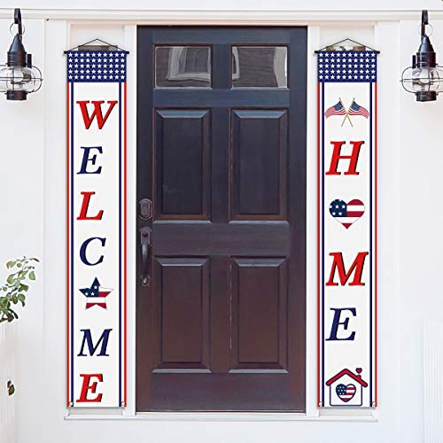 Welcome Home Sign Banner Military Army Soldier Homecoming Patriotic Decorations Family Gathering Party Supplies