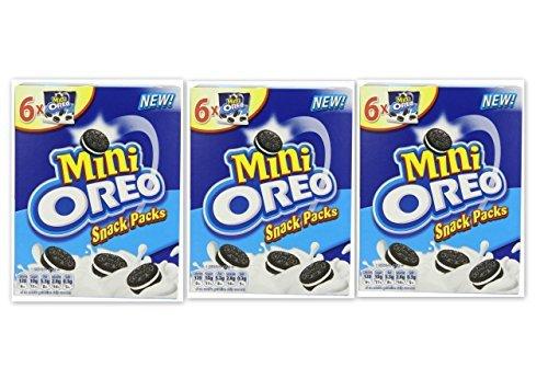 Oreo Mini Snack-Packs 3 x Boxen mit 6 taschen = 18 Beutel von Klein Schokolade & Vanille Creme Kekse