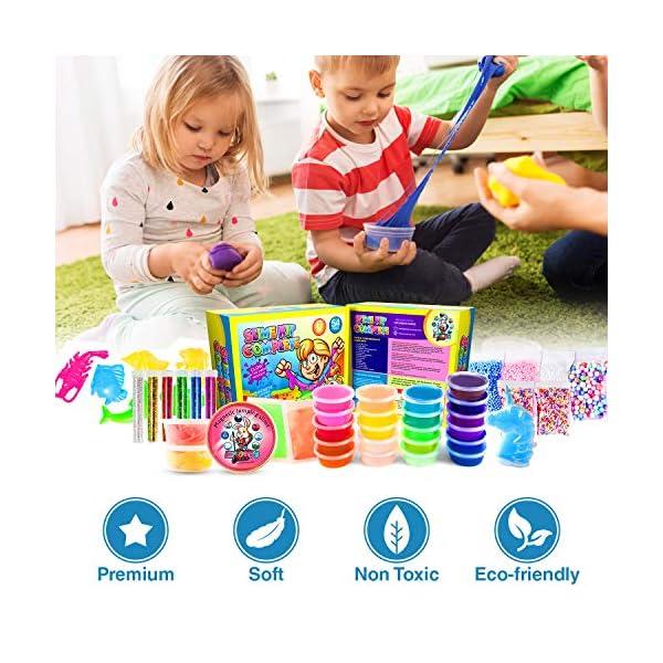Slime Kit for Girls Complete - Super Fun Girls Toys - Jumping Slime - DIY Big Slime Kit - 21 Color Crystal Slime… 6
