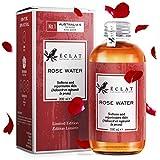 Agua de Rosas Eclat – Tónico Facial Natural Concentrado de Agua de Rosas para Calmar el Enrojecimiento, Reafirmar y Equilibrar la Piel Grasa - Listo para Usar + Con Fragancia Dulce