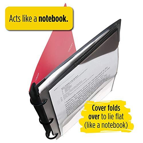 Five Star Flex Hybrid NoteBinder, 1-1/2 Inch Binder, Notebook and Binder All-in-One, Black (29324AA2) Photo #4