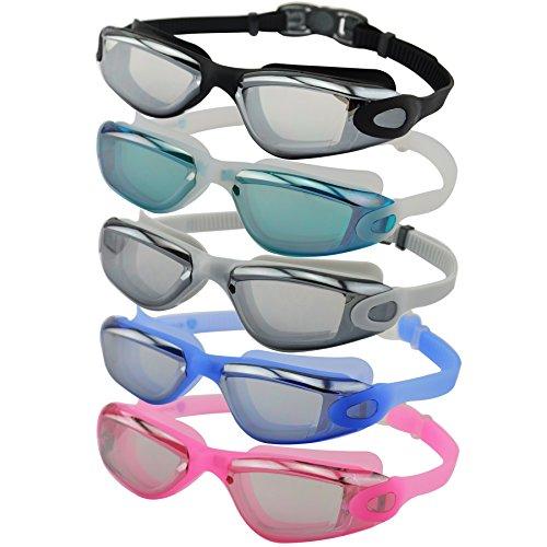 #DoYourSwimming Schwimmbrille inkl. Transportbox   professionelle Chlorbrille / Wasserbrille für Erwachsene   UV-Schutz, Anti-Beschlag auf den Gläsern & Quick-Release-System AF-1600 : blau