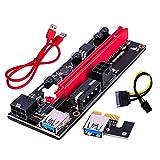 ZXING Tarjeta Adaptadora Pci-E Riser 16X a 1X 6Pin Sata Cable de Alimentación Gpu Riser 60Cm Usb 3. 0 Cable de Extensión Conector Pcie-Ethereum Mining Eth Rig