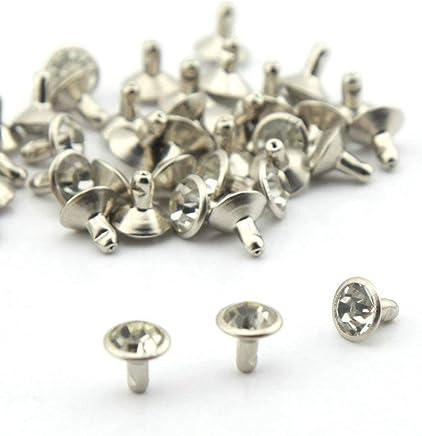 Gleader100 7mm Metall Rundnieten Nieten Ziernieten Hohlnieten fuer Handschuhe Guertel