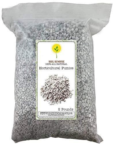Horticultural Bonsai Pumice Soil Amendment for Bonsai and Cactus Plants, 2 Pounds