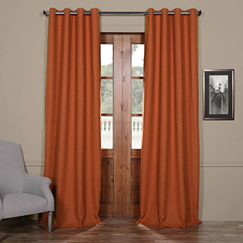 HPD Half Price Drapes BOCH-PL1609-96-GR Bellino Grommet Blackout Room Darkening Curtain (1 Panel), 50 X 96, Persimmon
