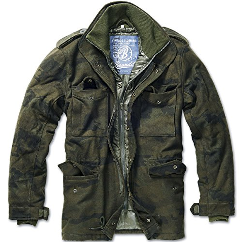 Brandit Herren M65 Voyager Wool Jacke, Mehrfarbig (Woodland 10), X-Large