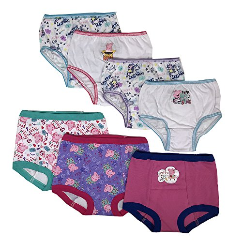 Peppa Pig Girls Potty Training Pants Panties Underwear Toddler 7-Pack Size 3T, Multi