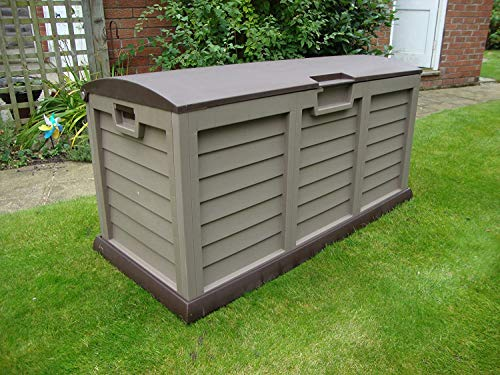 GSD Plastic Garden Storage Deck Box Waterproof Domed Lid Style XL Size 440 Litre 5 Year Guarantee
