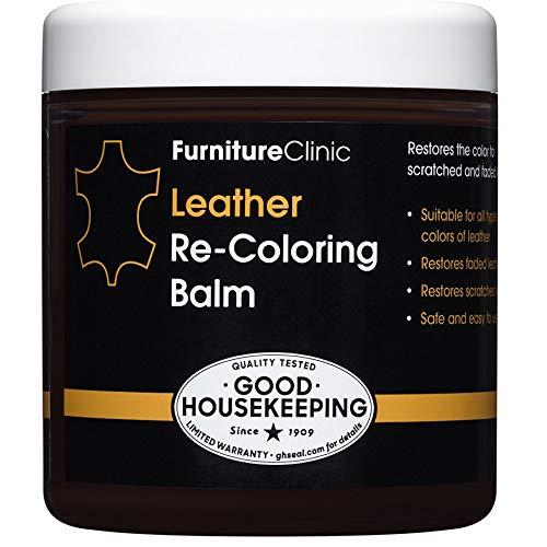 Furniture Clinic Leather Recoloring Balm (Dark Grey) 8.5 Fl. Oz –...