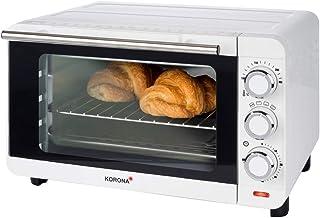 Korona 57004 57004-Horno tostador blanco bandeja recogemigas extraíble-horno pequeño, 1200 W, 14 litros