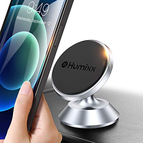 Humixx Magnetic Car Phone Mount 360 Degree Rotation, Universal Magnetic Cell Phone Holder for Car Dashboard Compatible with iPhone 11 Pro/ SE/ XR/ XS/ 8, Samsung Note 20 10 9 8 S20 Ultra S10 and More
