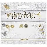 The Carat Shop Harry Potter Chocolate Rana, Gafas de Harry y giratiempos Stud Pendientes Conjunto