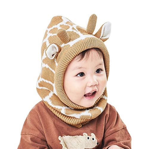 Pasamontañas de Punto con Capucha para bebé, diseño de Animales de Dibujos Animados