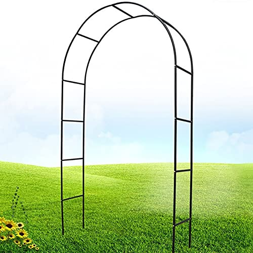Heavy Duty Rose Arches Climbing Plants Arbour Garden Decoration Archway Metal Tubular Frame Pergola 240x140x38cm(94.5x55.1x15in) Easy to Assemble Black, White, Green