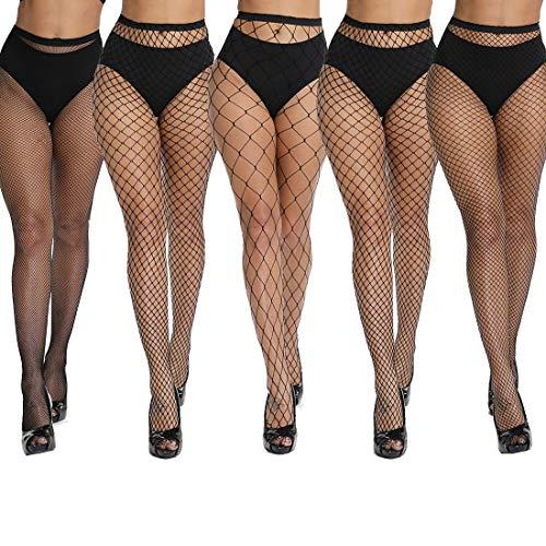 akiido High Waist Tights Fishnet Stockings Thigh High Stockings Pantyhose