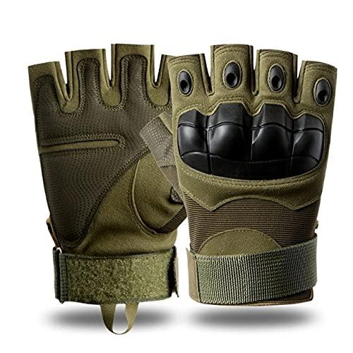 Berrd Guantes de Dedo Completo para Moto con Pantalla táctil para Motocicleta, Ciclismo, Escalada, Senderismo, Caza, Deportes al Aire Libre, Guantes de Equipo - Half Army Green, XL