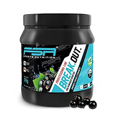 Pre-workout BOOSTER from the German pro sport brand FSA Nutrition | For energy, power and pump training | L-citrulline malate | Caffeine, guarana | Vegan | Fitness and muscle development Blackcurrant