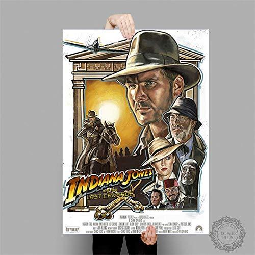 tiandushangdian Rahmenlose Malerei Indiana Jones Poster Klassische Filmplakate Und Drucke Leinwand Malerei Wandkunst Bild Home Decor Wandbild 50X70Cm D1517