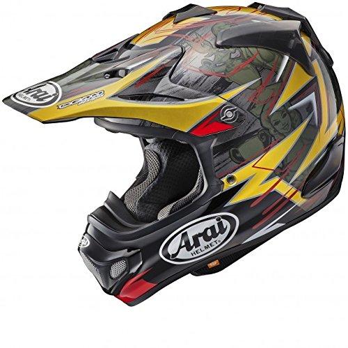 ARAI MX-V - Casco de Motocross (Tamaño Grande, 59-60 cm), Color Rojo