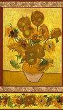 Van Gogh Sonnenblume von Robert Kaufman – Baumwollstoff