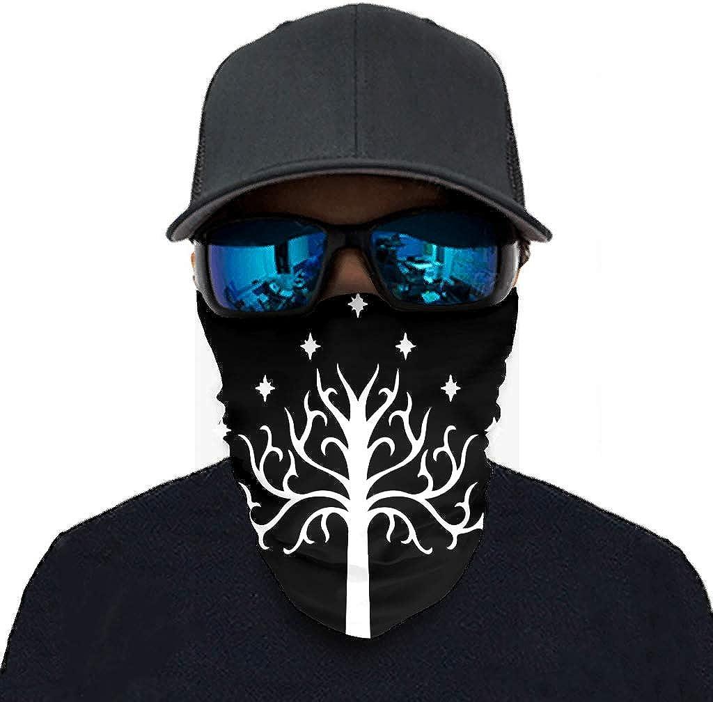 Hothotvery Gondor Unisex Tube Scarf Tree Print Balaclava Headbands Leisure Tube Scarf UV Protection