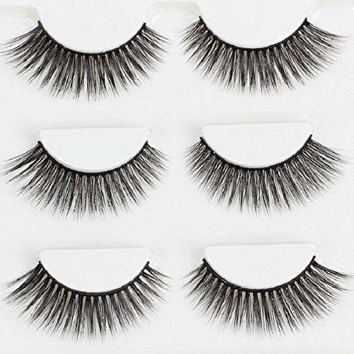 Delighted 3 Pairs 3D Natural Long False Eyelashes Extension Makeup