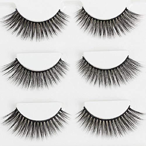 Delighted 3 Pairs 3D Natural Long False Eyelashes Extension Makeup