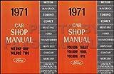 1971 FORD, MERCURY, LINCOLN FACTORY REPAIR SHOP & SERVICE MANUAL- Cougar, Montego, Comet, Meteor, Maverick, Torino, Mustang, Thunderbird, Continental, Mark III etc - 71