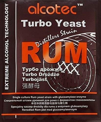 AlcoTec HUGBERT Turbohefe Rum + GA Vodka Alkohol Gärhefe Weinhefe Brennhefe gären, 1 Stück