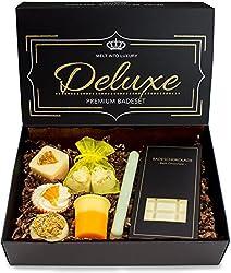 "BRUBAKER 8 teiliges Bio Badepralinen Geschenkset""Deluxe Orange Lemon"" - Vegan - Natürliche Inhaltsstoffe - Olivenöl, Sheabutter, Kokosöl, Kakaobutter - Handgemacht - inkl. Geschenkbox"