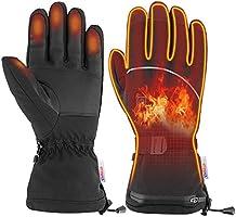 Ynredee [Upgrade] Elektrische Verwarmde Handschoenen met Touchscreen,Outdoor Indoor Batterij Aangedreven Verwarming...