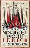 PostersAndCo TM Nordische WOCHE LÜBECK 1921 Poster /
