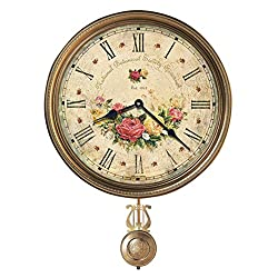 Howard Miller Savannah Botanical VII Wall Clock 620-440 – Vintage & Round with Quartz Movement