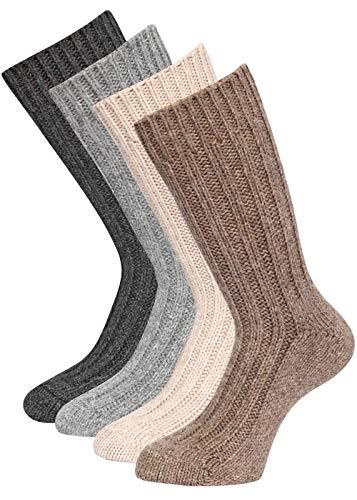4 Paar Alpaka Socken Wintersocken warm weich soft mit Alpakawolle 43-46
